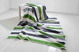 Koc Moca 150x200 cm  Stripes green