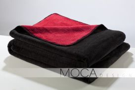 Koc Moca 150x200 Doubleface black&red