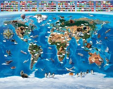 Tapeta 3D Walltastic - Map of the World
