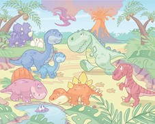 Tapeta 3D Walltastic - Baby Dino World