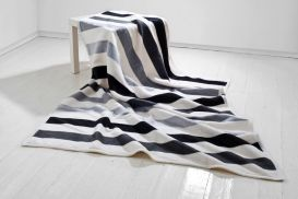 Koc Moca 150x200 cm Stripes grey