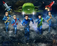 Tapeta 3D Walltastic - Thunderbirds
