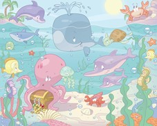 Tapeta 3D Walltastic Baby Under the Sea