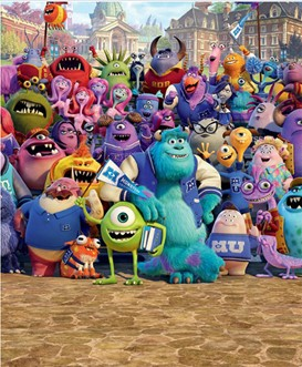 Tapeta 3D Walltastic -  Monsters University