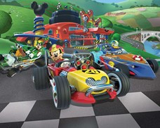 Tapeta 3D Walltastic - Mickey Mouse Roadster Racer